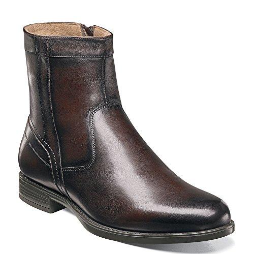Florsheim Men's Midtown Plain Toe Zip Boot Brown Smooth Boot 13 - Full Heels Zip