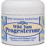 Wild Yam & Progesterone Cream - For Menopause and Mid life Changes.- Hot Flashes - Paraben Free - Fragrance Free - Non Toxic - Wise Essentials