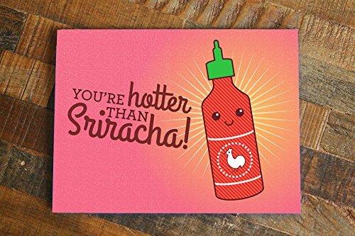 amazon com funny love card you re hotter than sriracha romantic
