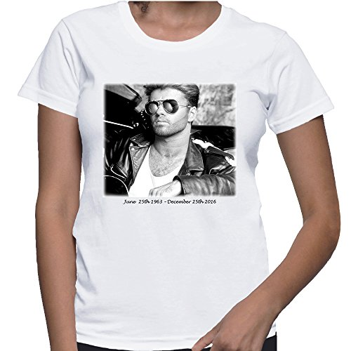 George Michael Tribute Tees Choose Life George Michaels Careless Whisper Tshirts X-Large White