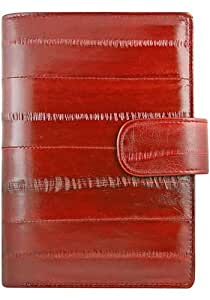 Burgundy Exclusive Organizer Holder - Genuine Eel Skin Leather