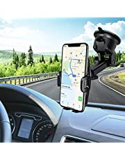 Car Phone Mount,Mpow Phone Holder,Mobile Phone Car Cradles,Universal Dashboard/Windshield Car Phone Holder,Washable Gel Pad Car Phone Mount Compatible iPhoneXR/XSMax/X/8,Galaxy S10/S9/S8/S7,Google,etc