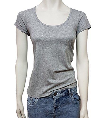 2 Stück Damen T-Shirt Shirt Grau Größe M (40/42)