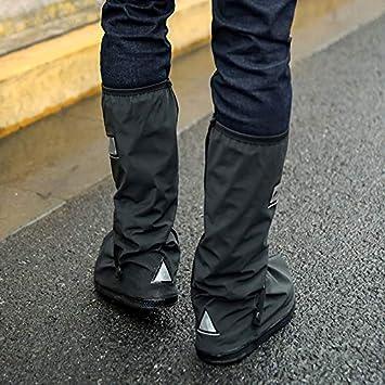 Impermeabili per Moto Fanville Small riutilizzabili Copriscarpe per Stivali da Pioggia Nero 2 Pezzi Ciclismo