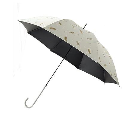 Paraguas plegable Sombrilla semiautomática Sombrilla Impermeable Anti-UV Paraguas de viaje Mango largo Paraguas Ms