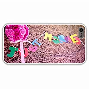 Diy Phone Cases Iphone 5 5S Holidays Flowers Bouquet Just Married Hay Mood Of Wife Present Transparent Cell Phone Shell For Girls