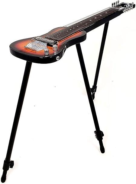 SX 8 3TS 8 cadena Lap Steel guitarra w/libre soporte desmontable y acolchada bolsa de transporte