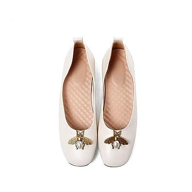 XZGC Les Chaussures Plates Confortables de La Mode Rétro A Souligné Les Chaussures, 37 EU, Noir