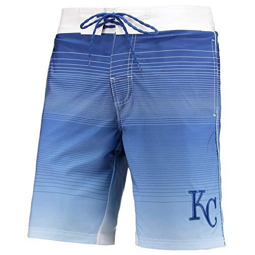 (League Trunks Kansas City G-III Sports by Carl Banks Defense Swim Trunk – Royal (Medium))
