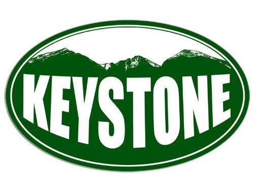 [해외]오벌 키스톤 콜로라도 마운틴 BG 스티커 (스노 스키 리조트) / OVAL KEYSTONE Colorado Mountain BG Sticker (snow ski resort)