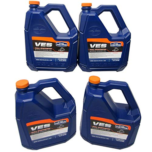 (Polaris 1 Case of 4 Gallons OEM Polaris VES Gold Synthetic 2 Cycle Snowmobile Oil)