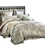 European King Bed Measurements MKXI Sateen Bedding Duvet Cover Set European Luxury Style Zipper Cloure King Size