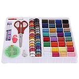 Gogoforward 100pcs Sewing Kit Measure Scissor Thimble Thread Needle Storage ...