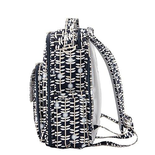 Ju-Ju-Be Be Right Back - Bolsa mochila de pañales, diseño The Versailles, 30.5 x 13 x 40.5 cm Negro