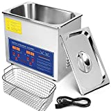 Mophorn Ultrasonic Cleaner Heater Timer Commercial Ultrasonic Cleaner 3L Professional Stainless Steel Industrial Ultrasonic Cleaner(3L)