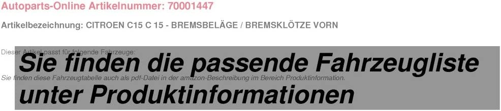 Bremsbel/äge//Bremskl/ötze vorne