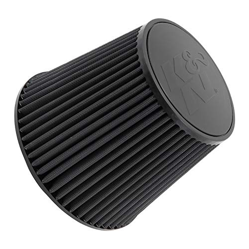 Super Flow High Performance Filters - K&N RU-5283HBK Universal Clamp-On Air Filter: Round Tapered; 4.5 in (114 mm) Flange ID; 8 in (203 mm) Height; 8 in (203 mm) Base; 6.625 in (168 mm) Top