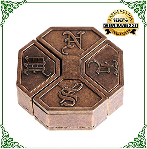 News Cast Metal Brain Teaser Puzzle for Adults IQ Test Toys Wire Puzzles for Kids -Great to Exercise and Sharpen Your Mind Level 6