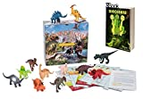 Dinosaurs Toys, Trivia Game & E-Book - 12 Large Assorted Figures - by TOOKKY