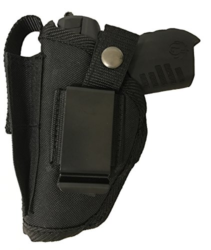 Bama Belts and Leathers Gun Holster fits Walther P22 Black Nylon Ambidextrous Use Left or Right Hand Built in Magazine Holder Adjustable Retention Strap Gun Slinger Holster (Walther P22 Best Price)