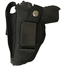 Bama Belts and Leathers Gun Holster fits Sig Sauer P365 Nitron Micro-Compact Black Nylon Ambidextrous Use Left or Right Hand Built In Magazine Holder Adjustable Retention Strap Gun Slinger Holster