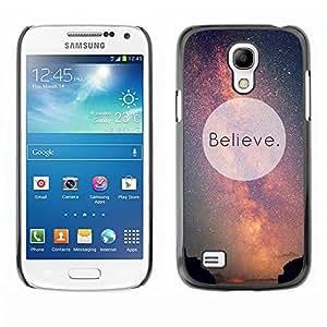 Be Good Phone Accessory // Dura Cáscara cubierta Protectora Caso Carcasa Funda de Protección para Samsung Galaxy S4 Mini i9190 MINI VERSION! // Motivational Sky God Aliens