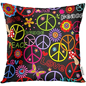 Amazon Com Golee Throw Pillow Cover Spring Colorful Sign
