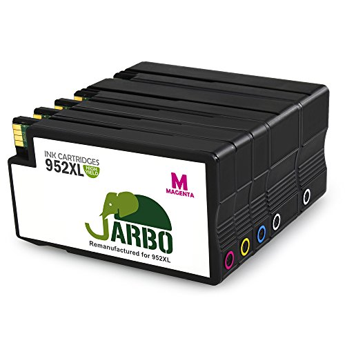JARBO Remanufactured for HP 952 Ink Cartridges High Yield, 5 Packs(2 Black, 1 Cyan, 1 Magenta, 1 Yellow), Use with HP OfficeJet Pro 8720 8710 7740 8210 8216 8218 8715 8716 8725 8728 8730 8740 Printer