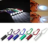 ONcemoRE Mini LED Portable Flashlight Camping Keychain Torch Handy Light Lamp - Black