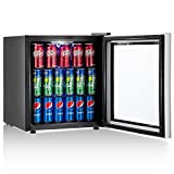 in cabinet beverage cooler - Costway 60 Can Beverage Refrigerator and Cooler Mini Fridge with Glass Door for Soda Beer or Wine Small Drink Dispenser Machine for Office or Bar (60 Can)
