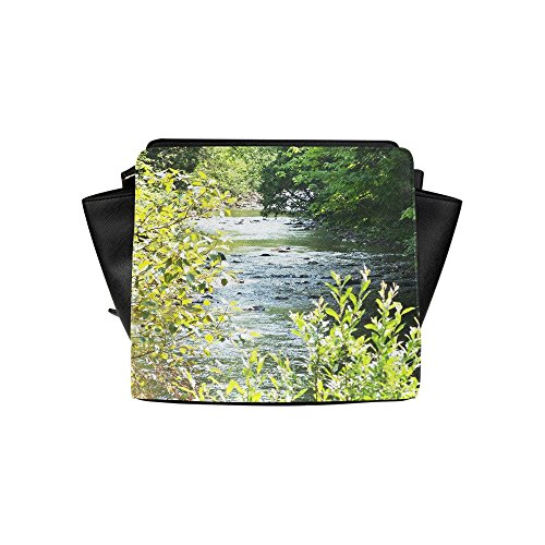 Jasonea Women Satchel Bag Hand Bag With River Runs Through It Basdd161002