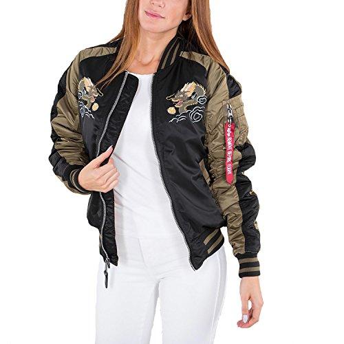 Women Industries Alpha Black Jacket Dragon Wmn Japan BpW8aWq