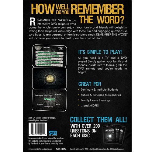 Amazon com: Remember The Word: The Book of Mormon Edition Volume 1