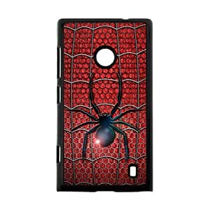 Snap on Hard Slim Cover Case Otterbox For Nokia Lumia 520 - Spiderman Symbol Logo in Red Uniform Design
