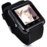 U8 bluetooth smart watch with touch screen for Android and IOS system smartphone(black)