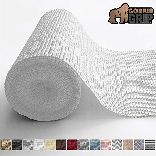 Gorilla Grip Original Drawer and Shelf Liner, Non Adhesive Roll, 12 Inch x 20 FT, Durable and Strong, Grip Liners for Drawers, Shelves, Cabinets, Storage, Kitchen and Desks, Snow ()
