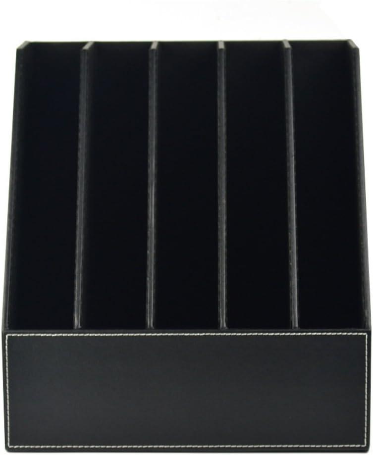 ファイルボックス 黒革5行文書データボックスファイルホルダー本データ列事務机収納拡大ファイル折り