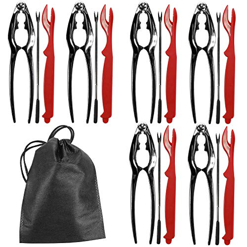 Seafood Tools Set Kit, Crab Nut Lobster Crackers Tools and Forks Set Including 6 Crab Crackers, 6 Lobster Shellers and 6 Forks by BERNIE ANSEL