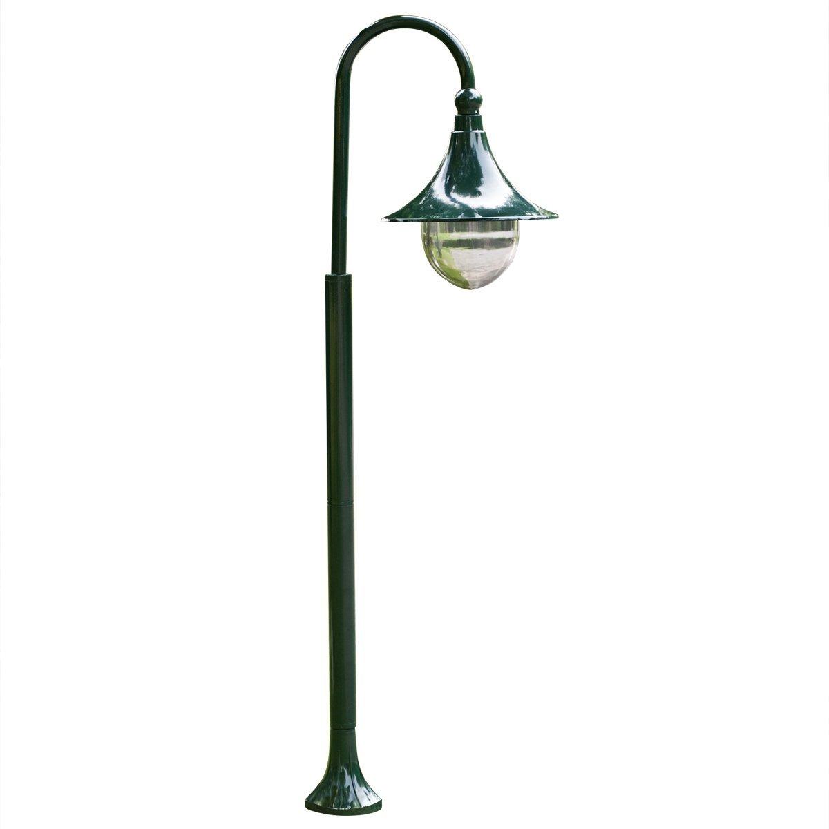 vidaXL Garden Post Light E27 120cm Aluminium Dark Green Outdoor Lamp Lantern