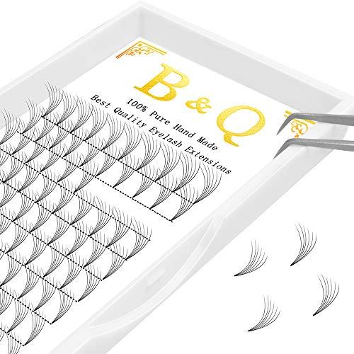 B&Q LASH Premade Volume Fans Eyelash Extensions Russian Volume lashes Individua Russian Volume Eyelash Extensions Length 9-15mm 4D 6D (6D-C-0.10, 13 ()