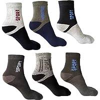 YASH ENTERPRISES Men's Cotton Sports Ankle Length Socks (Multicolour, Free Size) Pack of 6