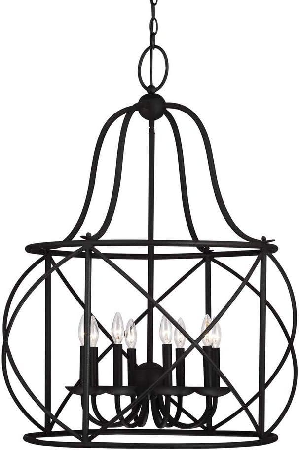 Sea Gull Lighting 5116408-839 Turbinio Eight-Light Hall Foyer Hanging Modern Light Fixture, Burnt Sienna Finish