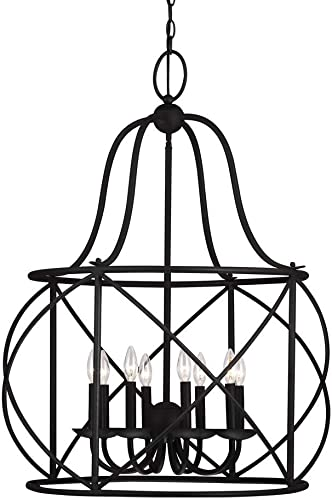 Sea Gull Lighting 5116408-839 Turbinio Eight-Light Hall Foyer Hanging Modern Light Fixture, Burnt Sienna Finish