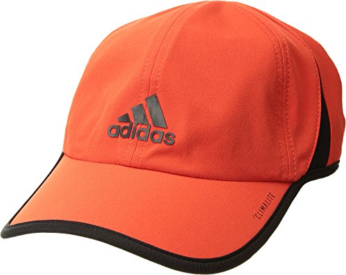 adidas Men's Superlite Relaxed Performance Cap, Hi-Res Red/Black, One Size (Adidas Soccer Hat)