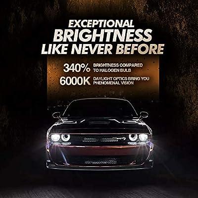 SEALIGHT P1 H11/H8/H9 LED Headlight Bulbs 2020, Projector Lens H11 LED Bulb with 340% Brightness, Plug-and-Play, 6000K Bright White, 50,000+ Hour Lifespan: Automotive