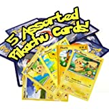 3. 5 Assorted Pikachu Pokemon Cards