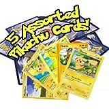 3. 5 Assorted Pikachu Pokemon Cards