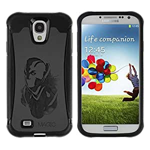 Planetar® ( Magic ) Samsung Galaxy S4 IV (I9500 / I9505 / I9505G) / SGH-i337 Hybrid Heavy Duty Shockproof TPU Fundas Cover Cubre Case