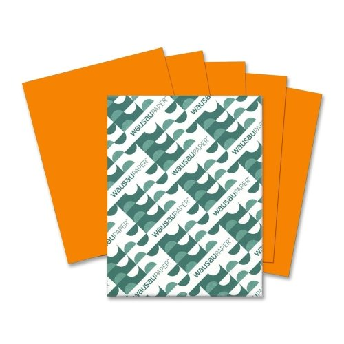 Wholesale CASE of 15 - Wausau Astrobrights Colored Paper-Astrobright Paper, 24Lb, 8-1/2''x11'', 500/PK, Orbit Orange by Wau (Image #1)