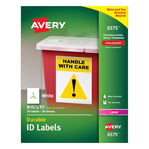 Avery Durable White Cover Up ID Labels for Laser Printers...